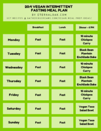 20_4 Vegan Intermittent Fasting Meal Plan Example